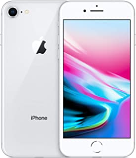 Apple iPhone 8, 64GB, Silver - for AT&T/T-Mobile (Renewed)