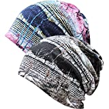 XYIYI Womens Chemo Headwear Hats Cotton Slouchy Beanie Cap Scarf (2pcs Tree-G)
