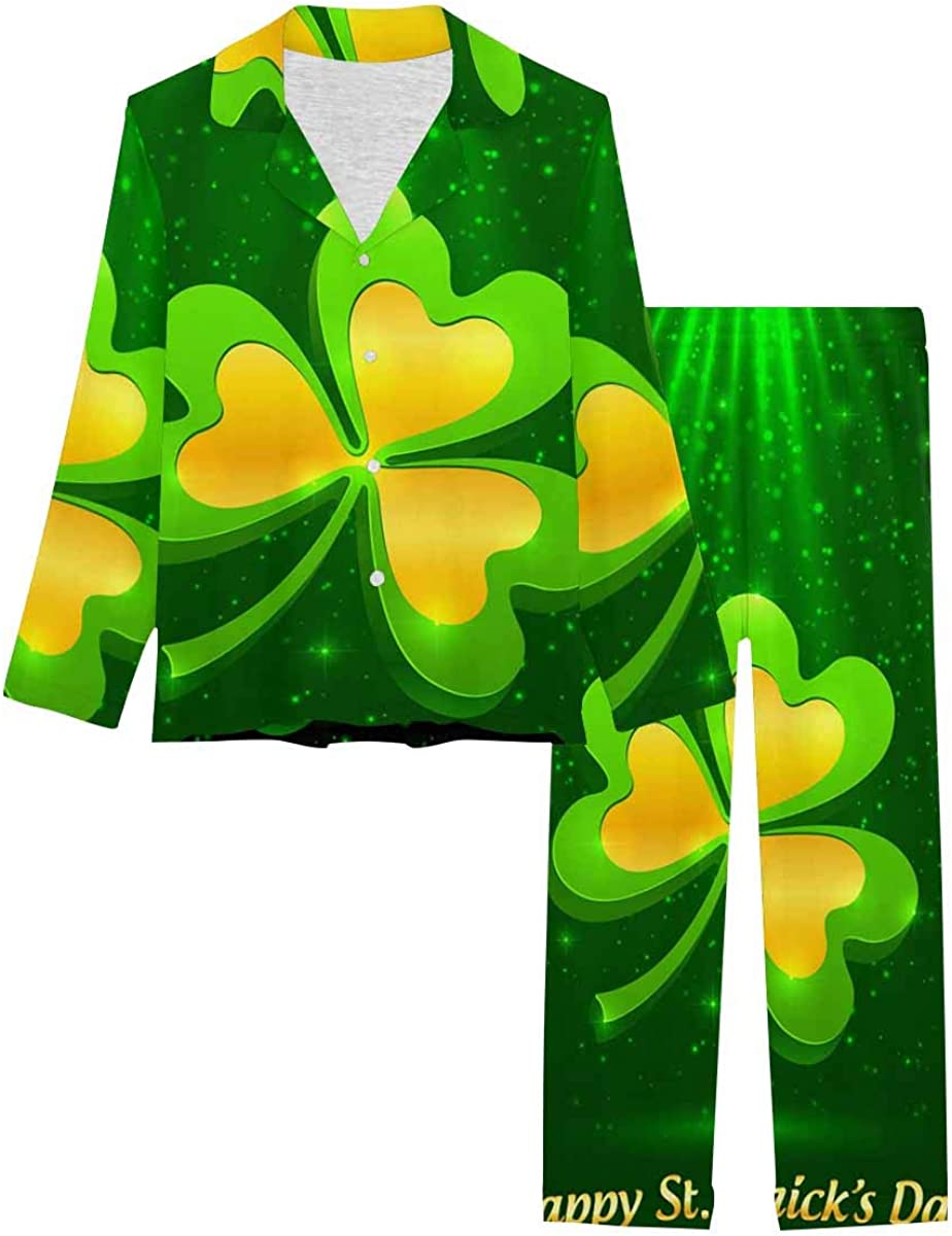 InterestPrint Women's Nightwear Limited time sale Notch New mail order with Collar Lon Loungewear