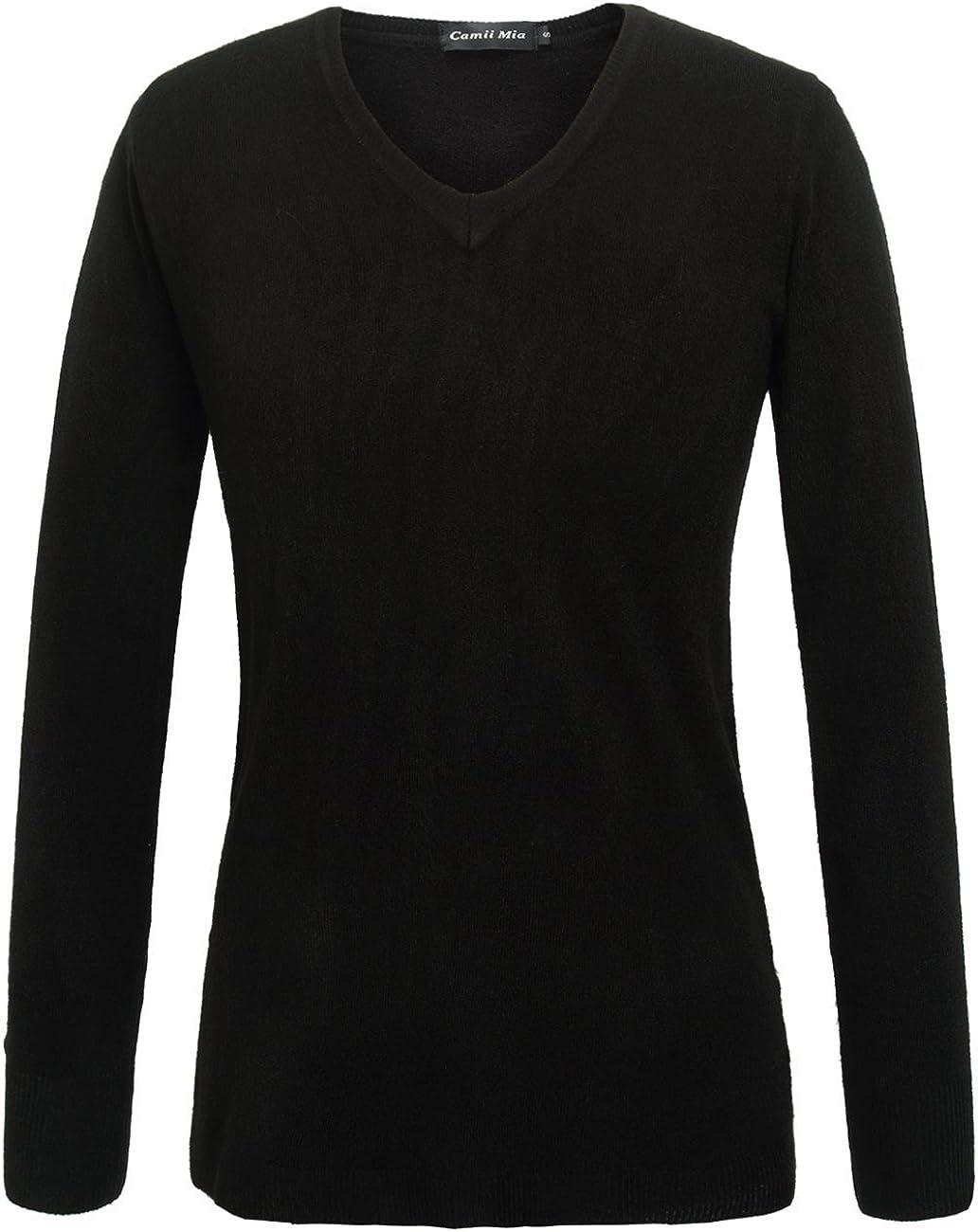Cheap Camii Mia Women's V Neck Sweater Pullover SALENEW very popular! Long Sleeve