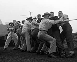 1950s Men Playing Tug-Of-War Poster Print By Vintage Collection (22 X 28)