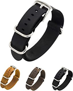 Watch Band Genuine Crazy Horse Leather Watch Bands NATO Zulu Military Swiss G10 Style Watch Strap 20mm 22mm
