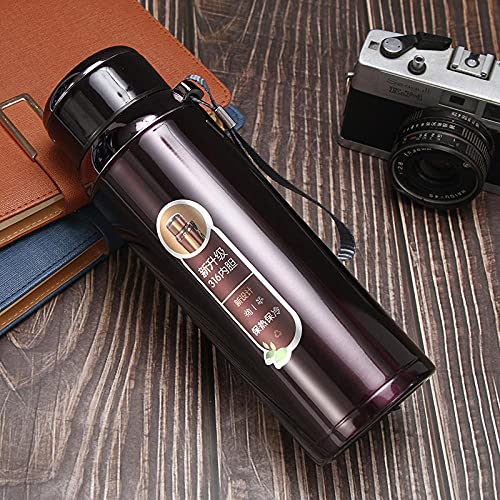 Botella Agua Deporte,Para Cantimploras para Gimnasio, Bicicleta, Colegio, Oficina, Viajes -vino tinto_600ml