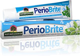 Nature's Answer Periobrite Natural Whitening Toothpaste | Soothes & Refreshes | Gluten-Free, Flouride-Free Soy-Free & Vege...