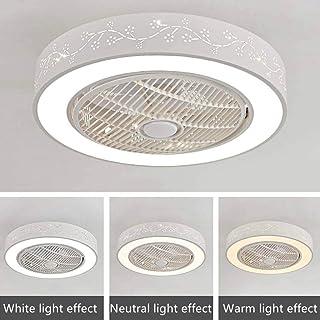 WJJH Ventilador de Techo con iluminación Regulable con Techo de Control Remoto Se Enciende la luz de Techo Ventilador silencioso Moderno LED,1