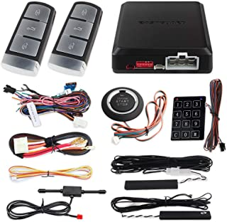 EASYGUARD EC002-V0 PKE Passive keyless Entry car Alarm System auto Start Push Start Button Touch Password keypad Backup keyless go Rolling Code dc12v