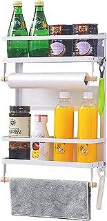 Wdmiya Étagère Réfrigérateur Porte-Épices Étagère à Épices Etagere Magnetique Frigo Rangement Cuisine Supports pour Papier...