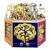 Actividad juguetes del cubo Puzzle Beaded Juguetes de madera entre padres e hijos juegos de bebé educación temprana Hexaedro juguetes educativos, regalos for niños y niñas 1-12 para los niños pequeños