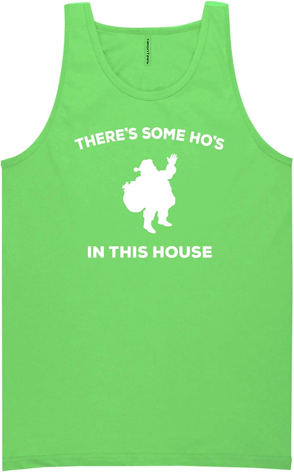 There's Some Ho's in This House Neon Green Tank Top - XX-Large
