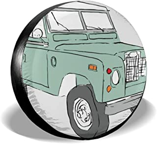 opi 90iuop Vintage Land Rover Spare Tire Cover Protector Polyester Universal Spare Wheel Tire Covers