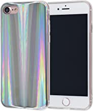iPhone 8/7 Case, FACEVER Psychedelic Holographic Rainbow Case for iPhone 7 iPhone 8 4.7 inch, Sparkle Shiny Colorful Laser Soft Protective Phone Cover -Silver