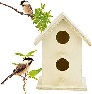OVERMAL Clearance Wood Bird House, Nest DOX Nest House Bird House Bird House Bird Box Bird Box Wooden Box (E)