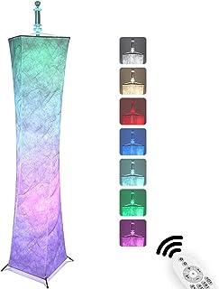InLoveArts luces decorativas RGB multifuncionales suaves, lámpara de pie de iluminación LED multifuncional con control remoto, adecuada para el ambiente cálido del dormitorio 10x10x61 pulgadas