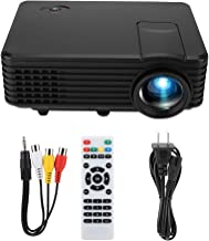 Video Projector - RD-805 Mini Portable LED HD Projector Movie Projector 1080P Resolution Supported for Home Office, Compatible with PC/TV/DVD/USB/SD/AV/HDMI/Smartphone(US Plug)