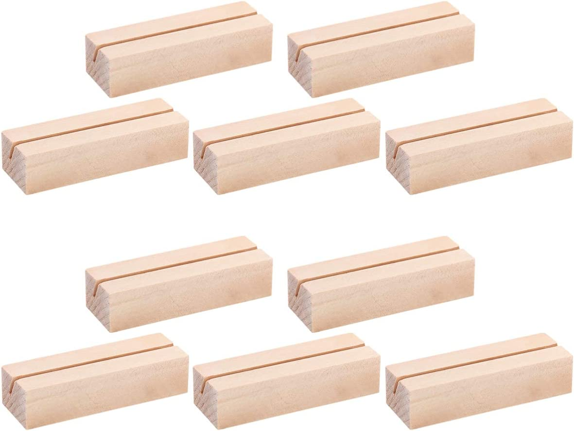 STOBOK 10 Pcs Wooden Place Las Vegas Mall Card OFFicial mail order Hold Sign Table Holders Numbers