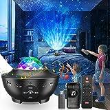 Proyector Estrellas, Proyector Galaxia 10 Modos LED Dinámica Luz nocturna Proyector Musical de Estrella Multicolor Lampara Bebe con Bluetooth/Temporizador/USB Regalo Perfecto para niños