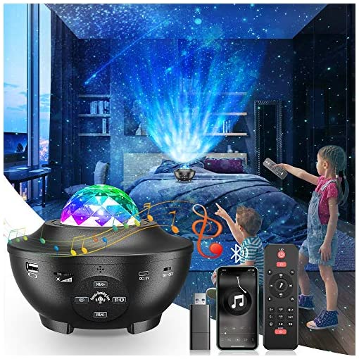 Star Projector, Galaxy Projector 10 Modes Dynamic LED Night Light Multicolor Star Musical Projector Baby Lamp with… 1