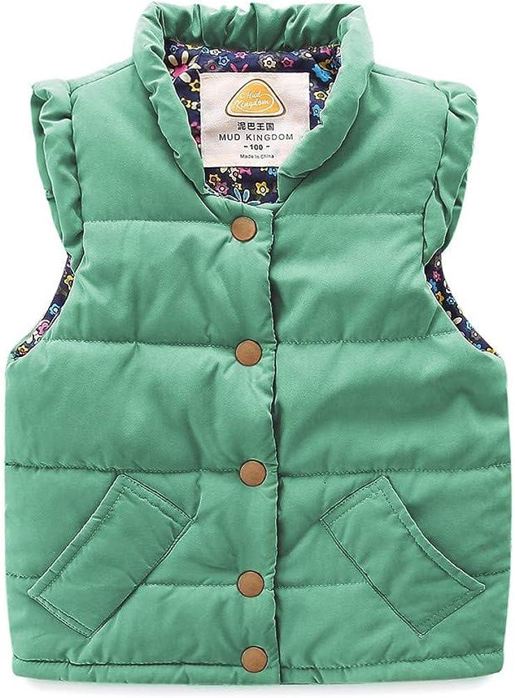LittleSpring Cute wholesale New Orleans Mall Girls Winter Vest Quilted V Puffer Lightweight