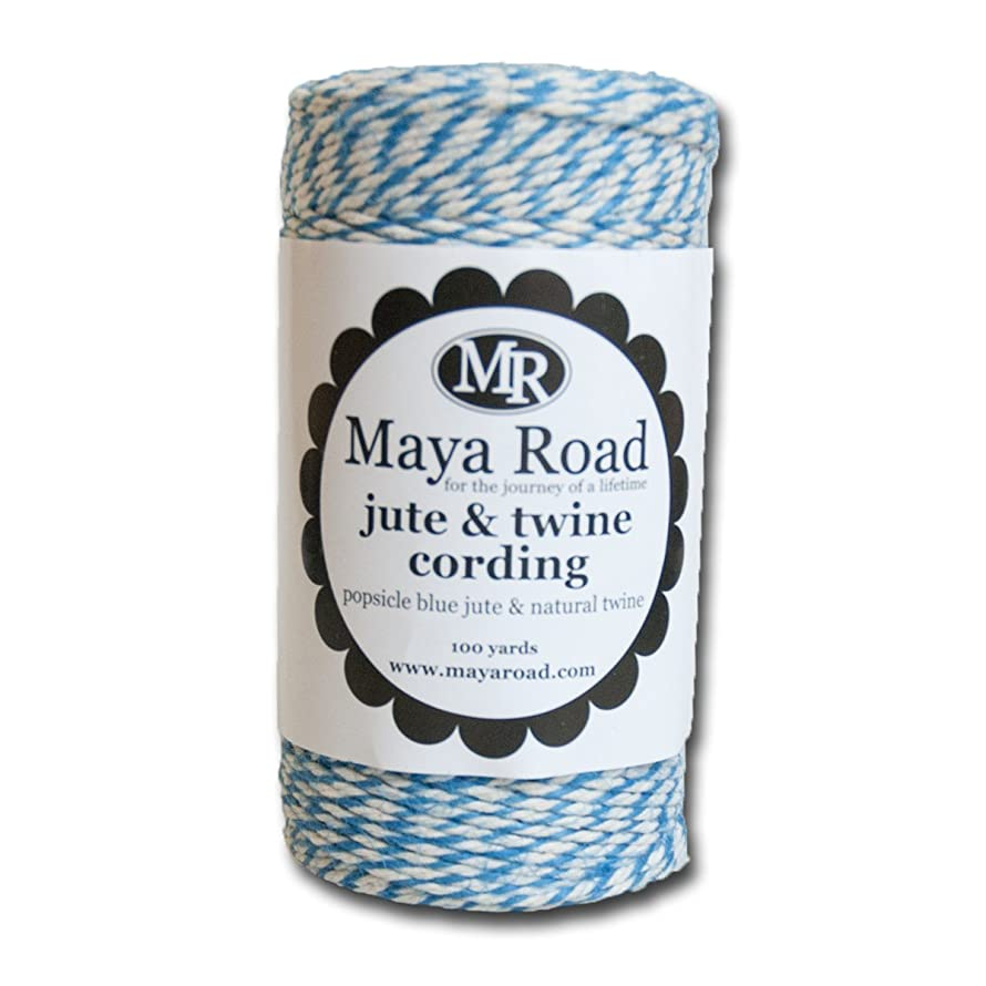 Maya Road TC3065 Popsicle Blue Jute & Twine Cording for Paper Crafts and Scrapbooking