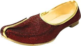 Mehroon Glitter Traditional Handmade Sherwani Groom Khussa Jutti Men mojaries Loafers for Mens