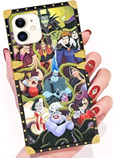 DISNEY COLLECTION iPhone 11 Disney Rebel Character Square Phone Case Cover Soft TPU 360 Degree Luxury Shockproof Protective Case Compatible for iPhone 11 6.1 Inch