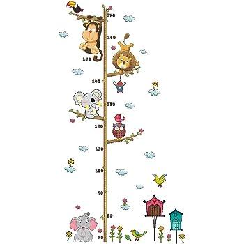 Greetuny 1pcs Vinilos de Pared Infantiles Dibujos Animados Medidor Altura niños Pegatinas Decorativas Dormitorio Lindo Animal Etiquetas Adhesivas: Amazon.es: Hogar