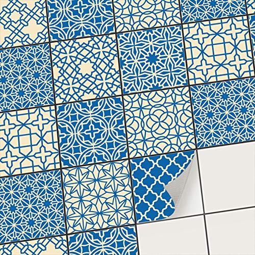 creatisto Mosaikfliesen Fliesenaufkleber Fliesenfolie - Aufkleber Sticker für Wandfliesen I Stickerfliesen - Mosaikfliesen für Küche, Bad, WC Bordüre (20x20 cm I 18 -Teilig)