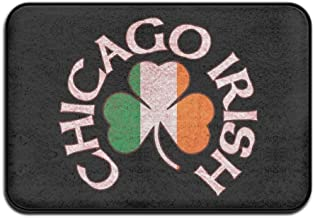 Soft Non-slip Chicago Irish Shamrock Bath Mat Coral Fleece Area Rug Door Mat Entrance Rug Floor Mats