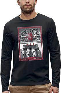Koszulka z długim rękawem THE BRIDGE STAYS IN BROOKLYN - PIXEL EVOLUTION - Mężczyzna