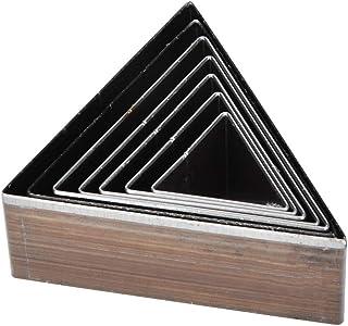 7pcs cuir poinçonnage moule 20-50mm un trou creux forme triangulaire bricolage outil de bricolage pour sangle sac ceinture...