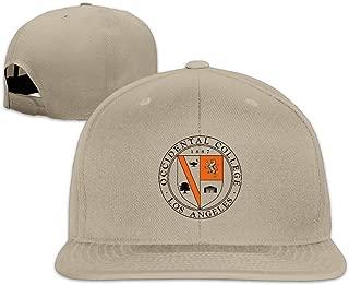 Occidental College University Snapback Flat Baseball Fit Cap Ash