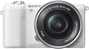 ソニー ミラーレス一眼 α5100 パワーズームレンズキット E PZ 16-50mm F3.5-5.6 OSS付属 ホワイト ILCE-5100L-W