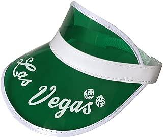 YH Poker 5PCS Las Vegas Green Dealer Visors,Costume Hat, One Size Fits Most,Expandable Headband