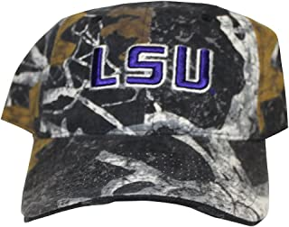 Rob'sTees Louisiana State University LSU Tigers Camo Buckle Back Twill Cotton Adjustable Baseball Dad Cap Hat