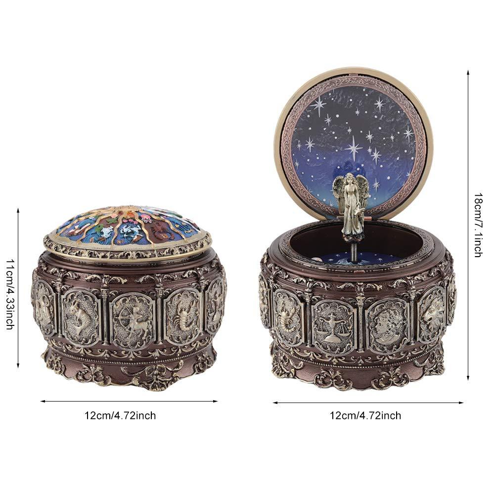 Jeffergarden Caja de música Vintage con 12 Constelaciones, Diosa ...