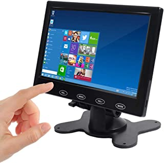 SallyBest 7 Inch Ultra Thin 16:9 HD 800480 TFT LCD Color Display Headrest Monitor Touch Button Monitor Screen Support AV H...