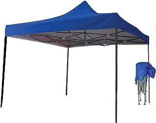 Just Relax Folding Gazebo Canopy, Blue, 10x10 Feet