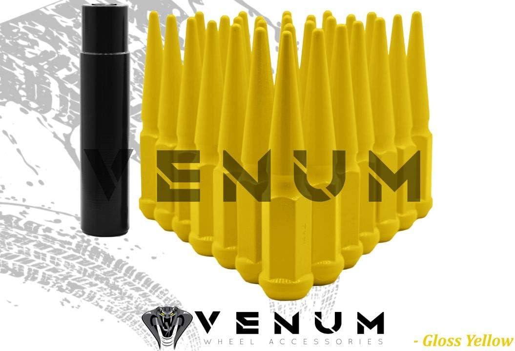 Venum wheel accessories 32 Pc Powder Popular overseas Nut Spike Fashion Lug Coated Yellow