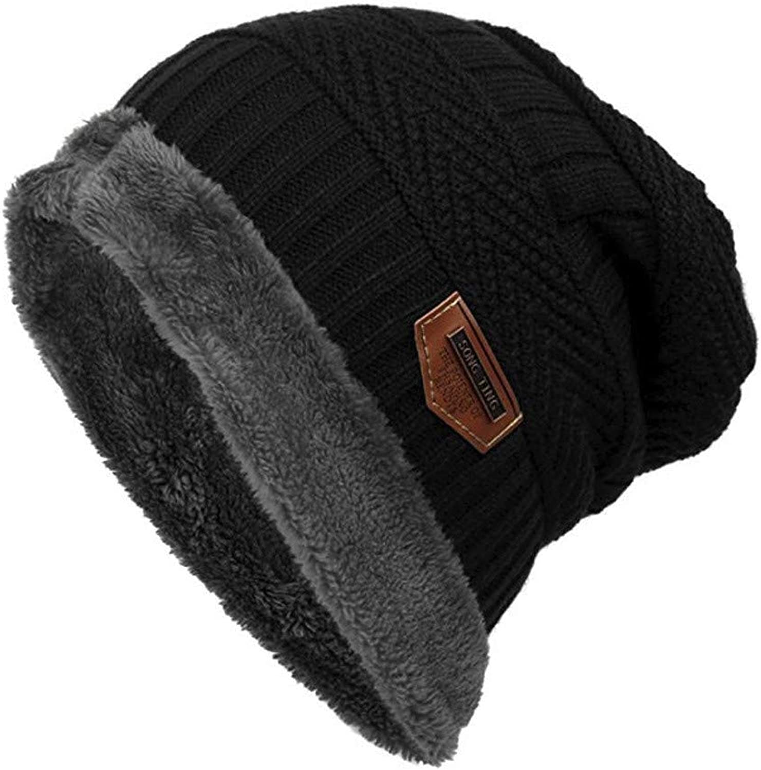 ILXHD Beanie Hat for Men and Women Winter Warm Hats Knit Slouchy Thick Skull Cap