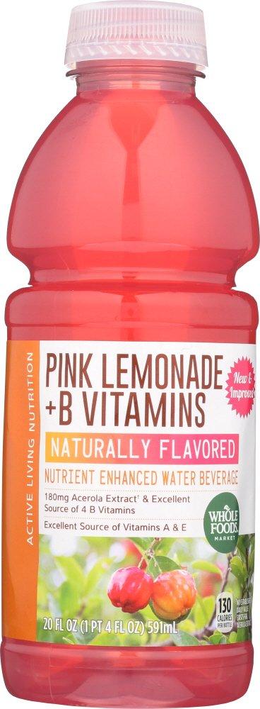 Whole Foods Market Nutrient Enhanced Lemon Excellence Selling Water Beverage Pink