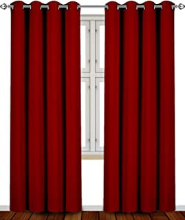 Utopia Bedding Blackout, Room Darkening Curtains Window Panel Drapes - (Burgundy Color) 2 Panel Set, 52 inch Wide by 84 inch Long Each Panel