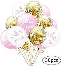 Unicorn Balloons - 15 PCS Latex Gold Confetti Balloons for Unicorn Birthday Baby Shower Unicorn Theme Party Supplies 12 inches