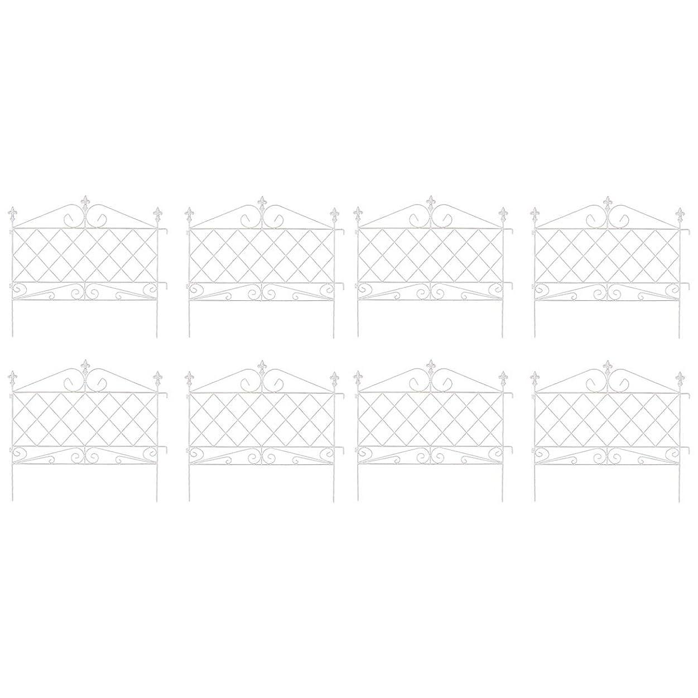 アプローチローフェンス 8枚組 ホワイト AF008-8P-WHT(SST)
