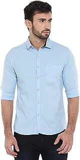 Chennis Mens Causal Shirt(Blue)