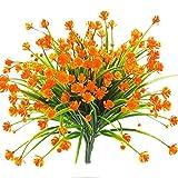 Mazheny Artificielle Faux Fleurs, 4 Pcs Extérieure Résistant UV Verdure Arbustes Plantes Intérieur Extérieur Suspendus Planteur De Mariage Maison Jardin Décoration