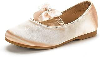 Girl's Sophia Adorables Mary Jane Front Bow Elastic Strap Ballerina Flat (Toddler/Little Girls)