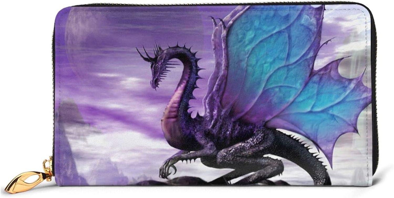 Purple Dragon Latest item Moon Print Leather Inexpensive Women'S Wallets