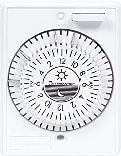 Intermatic E1020 24-Hour 15-Amps Multiple Program Heavy Duty Mechanical Timer, Color