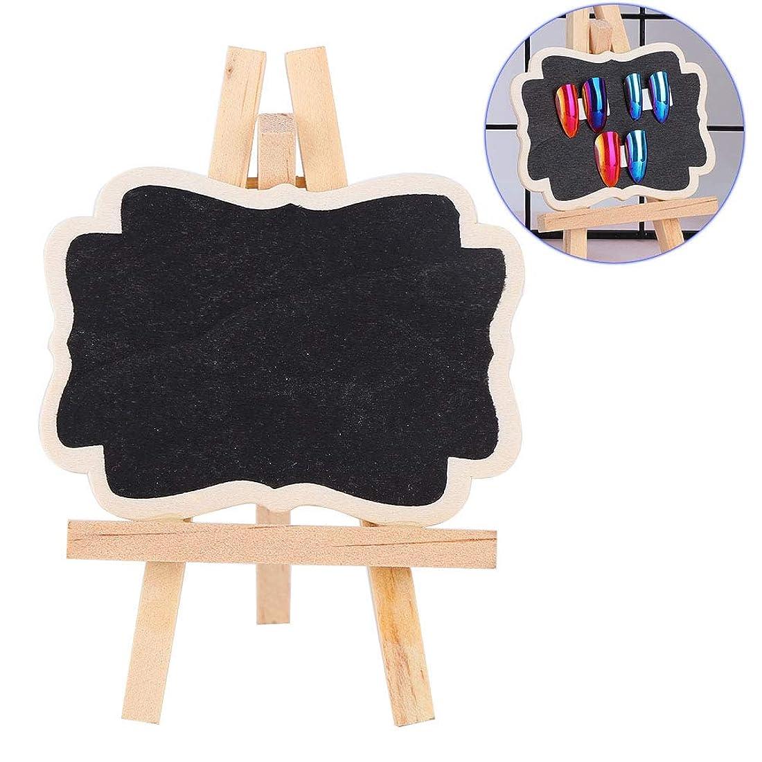 ピル疎外スペルネイルアート ディスプレイ スタンド 両面 ネイルアートディスプレイスタンド ジェル ポリッシュカラーショーケースフレーム 黒板