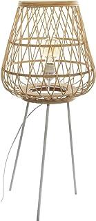 Atmosphera - Lampadaire Trépied en Bambou et Métal H 76 cm